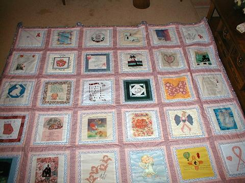 Breast Cancer Quilt created by the original members of this Breast Cancer Survivor support group on the internet